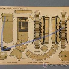 Coleccionismo Recortables: 1 TANQUE M-48 -GENERAL PATTON II-(USA). RECORTABLES TORAY DE 1962 Nº29. MEDIDAS 40,5X29.. Lote 30348292