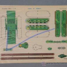 Coleccionismo Recortables: 1 CARRO DE COMBATE -RECORTABLES EVA-1.109, MEDIDAS 22,5X30CM.. Lote 30348636