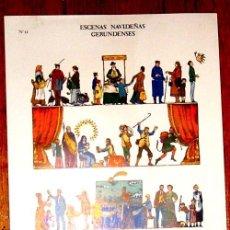 Coleccionismo Recortables: RECORTABLES ESCENAS NAVIDEÑAS GERUNDENSES -PLA DALMAU - V I B. Lote 30402867