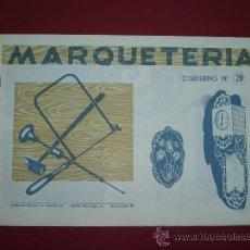 Coleccionismo Recortables: CUADERNOS MARQUETERIA ANTIGUOS - AÑOS 60 - RELOJ DE PARED Nº 20 - SALVATELLA TDK82. Lote 30783554