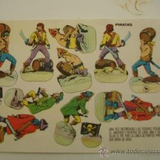 Coleccionismo Recortables: PIRATAS ANTIGUO RECORTABLE 1960 . Lote 31287794