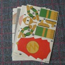 Coleccionismo Recortables: LOTE DE 4 HOJAS RECORTABLES PEGAMENTO PRITT. Lote 39450563