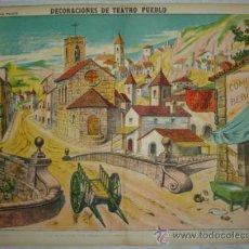 Coleccionismo Recortables: DECORACIONES DE TEATRO. PUEBLO. PALUZIE, Nº 1038. (40 X 29 CM). Lote 32256555