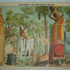 Coleccionismo Recortables: BASTIDORES DE CAMPAMENTO MILITAR. PALUZIE, Nº 504. (40 X 29 CM). Lote 32256875