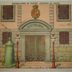 Coleccionismo Recortables: DECORACIONES DE TEATRO. EXTERIOR DE CÁRCEL. PENITENCIARIA. PALUZIE, Nº 510. (40 X 29 CM). Lote 32257036