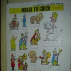 Coleccionismo Recortables: MONTA TU CIRCO ,....4 PAGINAS RECORTABLES. Lote 32431862