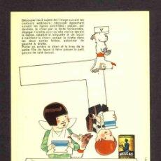 Coleccionismo Recortables: RECORTABLE NESTLE: MONTAJE DE 2 NIÑOS EN UNA MESA CON MOVIMIENTO (13,5 X 21 CMS). EN CARTULINA FINA. Lote 33007581