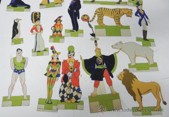 Coleccionismo Recortables: ANTIGUA CARPETA DE RECORTABLE GRAN CIRCO - ED. ROMA - AÑOS 50 - CONTIENE LAS FIGURAS YA RECORTADAS - Foto 4 - 33027382