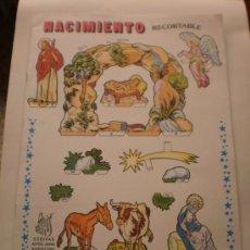 Coleccionismo Recortables: NACIMIENTO RECORTABLE ( EDIVAS - BARCELONA ) INCLUYE BASE PARA MONTAR . AÑOS 90 .. Lote 103091898