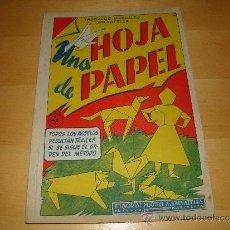 Coleccionismo Recortables: UNA HOJA DE PAPEL - TRABAJOS MANUALES SAVATELLA. Lote 34560110
