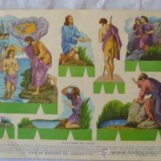 Coleccionismo Recortables: ROMA.VIDA DE NTRO SR JESUCRISTO Nº6.BAUTISMO DE JESUS. Lote 34872664