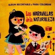 Coleccionismo Recortables: ALBUM RECORTABLE Y PARA COLOREAR, LAS MARAVILLAS DE LA NATURALEZA, MUNDO INFANTIL, ED. FERMA. Lote 34905297