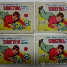 Coleccionismo Recortables: TRABAJOS MANUALES SALVATELLA - SIMETRIA - RECORTADO ESCOLAR - 4 CUADERNOS. Lote 35305958