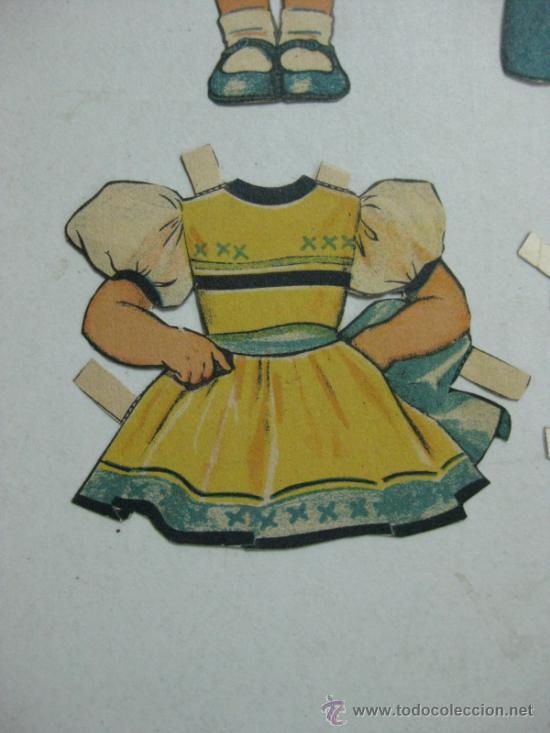 Coleccionismo Recortables: ANTIGUO RECORTABLE SHIRLEY TEMPLE - AÑOS 1930 - TROQUELADO - 6 PIEZAS VER FOTOS - Foto 4 - 35447065