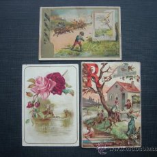 Coleccionismo Recortables: 3 RECORTABLES ANTIGUO. Lote 35902871