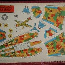 Coleccionismo Recortables: LOTE 18 RECORTABLES DE AVIONES - BRUGUERA 1959 - AVIÓN. Lote 36168281