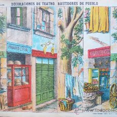 Coleccionismo Recortables: DECORACIONES DE TEATRO- BASTIDORES DE PUEBLO - Nº 1038 -ESTAMPERIA PALUZIE. -VELL I BELL. Lote 36561652