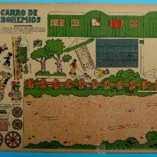 Coleccionismo Recortables: RECORTABLE DEL TBO. CARRO DE BOHEMIOS. APROXIMADAMENTE AÑOS 1940/50.. Lote 36611005