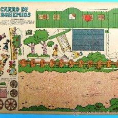 Coleccionismo Recortables: RECORTABLE DEL TBO. CARRO DE BOHEMIOS. APROXIMADAMENTE AÑOS 1940/50.. Lote 36611051
