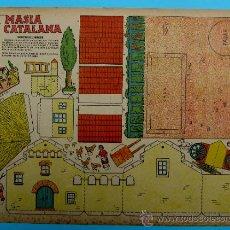 Coleccionismo Recortables: RECORTABLE DEL TBO. MASIA CATALANA. APROXIMADAMENTE AÑOS 1940/50.. Lote 36611281