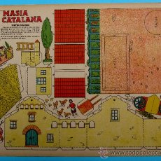 Coleccionismo Recortables: RECORTABLE DEL TBO. MASIA CATALANA. APROXIMADAMENTE AÑOS 1940/50.. Lote 36611395