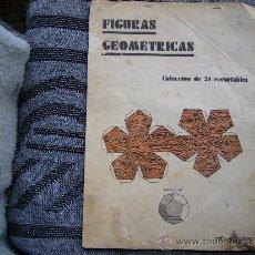 Coleccionismo Recortables: CUADERNO DE FIGURAS GEOMETRICAS RECORTABLES-EDITORIAL SALVATELLA.. Lote 36738089