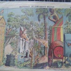 Coleccionismo Recortables: RECORTABLE DECORACIONES DE TEATRO BASTIDORES DE CAMPAMENTO MILIAR Nº 504 PALUZIE . Lote 38354971