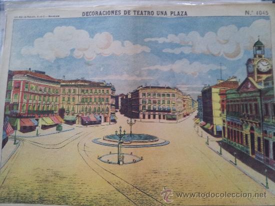 RECORTABLE DECORACIONES DE TEATRO UNA PLAZA Nº 1045 PALUZIE (Coleccionismo - Otros recortables)