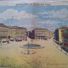 Coleccionismo Recortables: RECORTABLE DECORACIONES DE TEATRO UNA PLAZA Nº 1045 PALUZIE. Lote 38355008