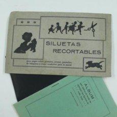 Coleccionismo Recortables: SILUETAS RECORTABLES, 19X12 CM. . Lote 38955241