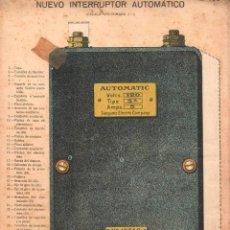 Coleccionismo Recortables: NUEVO INTERRUPTOR AUTOMÁTICO. DESPLEGABLE DEL DESPIECE A VARIOS NIVELES. 32 X 22 CM.. Lote 39451740