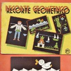 juego recortable - recorte geometrico - nº 1 - completo - ed. roma - ver foto - años 50 - rd3
