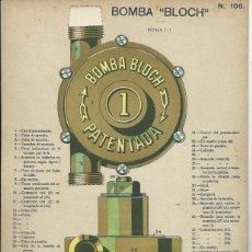 Coleccionismo Recortables: LAMINA CON ESQUEMA TROQUELADO, BOMBA BLOCH. Lote 40904476