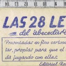 Colecionismo Recortáveis: ABECEDARIOS RECORTABLES PARA NIÑOS- EDITORIAL ROMA-BARCELONA.. Lote 41033733