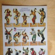 Coleccionismo Recortables: OTROS GOYO - RECORTABLE - SERIE A NºS 1 Y 4 - EURAMERICA AÑOS 50 - INDIOS Y VAQUEROS *BB99. Lote 41132427
