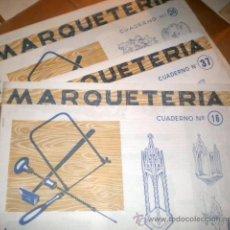 Coleccionismo Recortables: CUADERNOS DE MARQUETERIA - LOTE DE 3 - 16-26-37 ...AÑOS 60/70. Lote 41155469