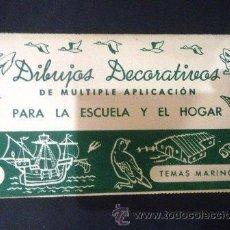 Coleccionismo Recortables: DIBUJOS DECORATIVOS Nº 3 TEMAS MARINOS. Lote 42099873