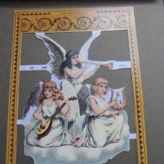 Coleccionismo Recortables: LAMINA DE CROMOS TROQUELADOS ANGELES MUSICOS MLP.-A40. Lote 42484540