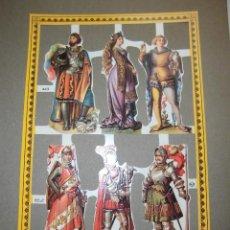 Coleccionismo Recortables: LAMINA DE CROMOS TROQUELADOS MEDIEVALES MLP.-A43. Lote 42484642