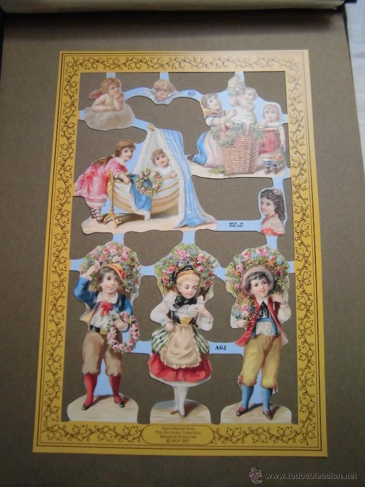 LAMINA DE CROMOS TROQUELADOS NIÑOS MLP.-A62 (Coleccionismo - Otros recortables)