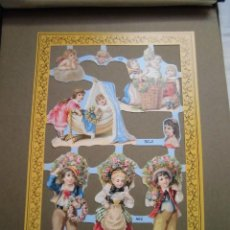 Coleccionismo Recortables: LAMINA DE CROMOS TROQUELADOS NIÑOS MLP.-A62. Lote 42484755