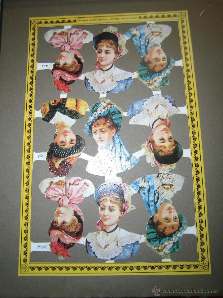 LAMINA DE CROMOS TROQUELADOS DAMAS MLP.-A13 (Coleccionismo - Otros recortables)