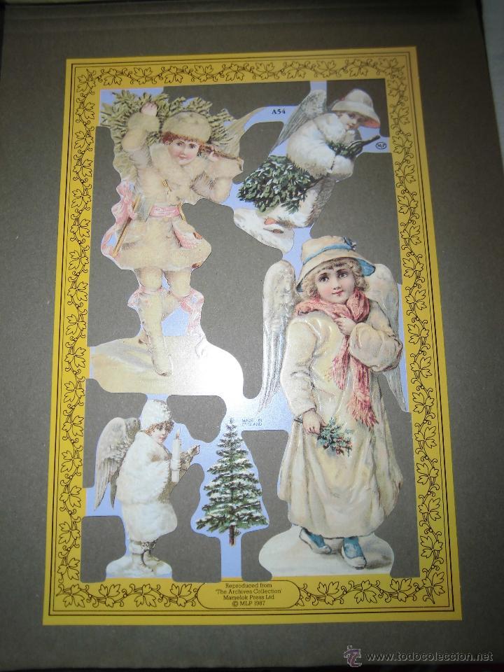 LAMINA DE CROMOS TROQUELADOS ANGELES MLP.-A54 (Coleccionismo - Otros recortables)