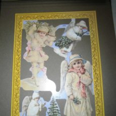 Coleccionismo Recortables: LAMINA DE CROMOS TROQUELADOS ANGELES MLP.-A54. Lote 42484847