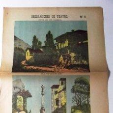 Coleccionismo Recortables: DECORACIONES DE TEATRO Nº 3 . VISTA DE UN CASERIO . BASTIDORES . RECORTABLE . 32X44 . SUC. HERNANDO. Lote 86377671