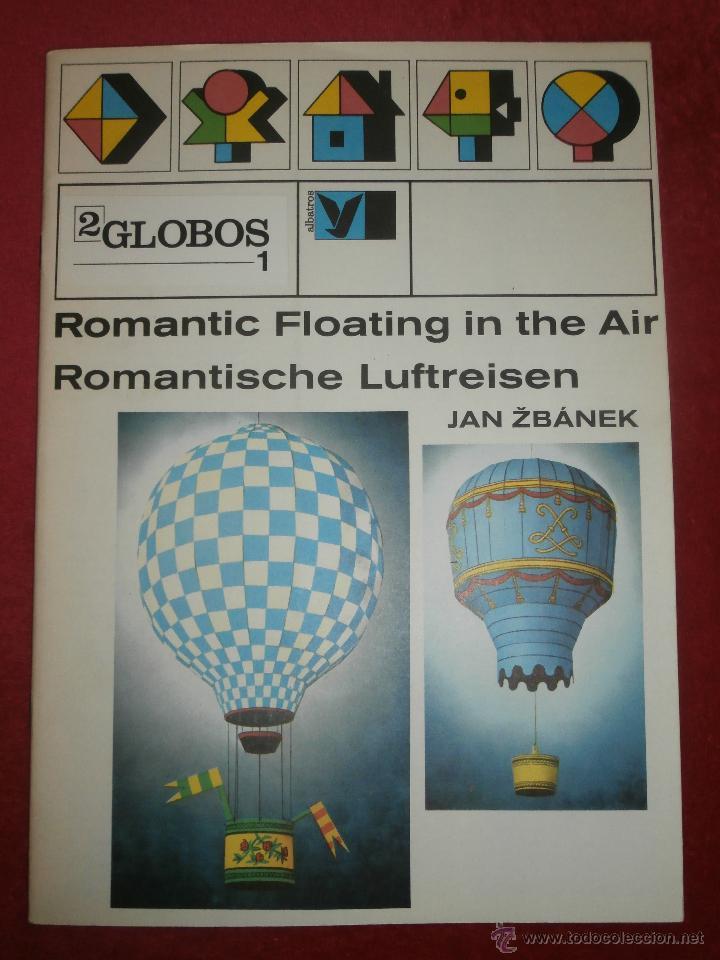 RECORTABLE - GLOBOS AEROSTÁTICOS - ROMANTIC FLOATING IN THE AIR - JAN ZBANEK - ALBATROS 1983 - (Coleccionismo - Otros recortables)