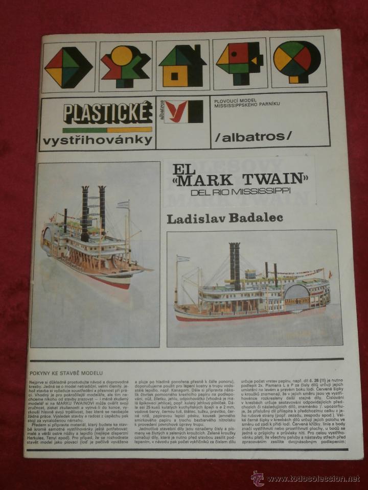 IMPRESIONANTE MAQUETA RECORTABLE - EL MARK TWAIN - LADISLAV BADALEC - ALBATROS -1987 - (Coleccionismo - Otros recortables)