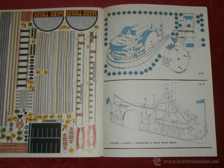 Coleccionismo Recortables: Impresionante Maqueta Recortable - El Mark Twain - Ladislav Badalec - Albatros -1987 - - Foto 8 - 43034938