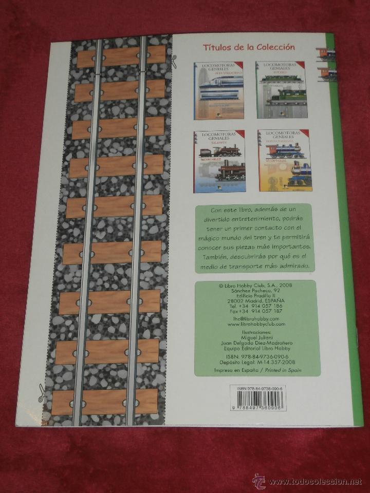 Coleccionismo Recortables: Maqueta Recortable - Locomotoras Geniales - Locked - Libro Hobby - - Foto 4 - 43035185