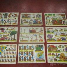 Coleccionismo Recortables: COLECCIÓN COMPLETA 9 HOJAS RECORTABLES KIKI LOLO *ESCENAS INFANTILES* EDIT.ROMA BARCELONA - AÑO 1970. Lote 43758099